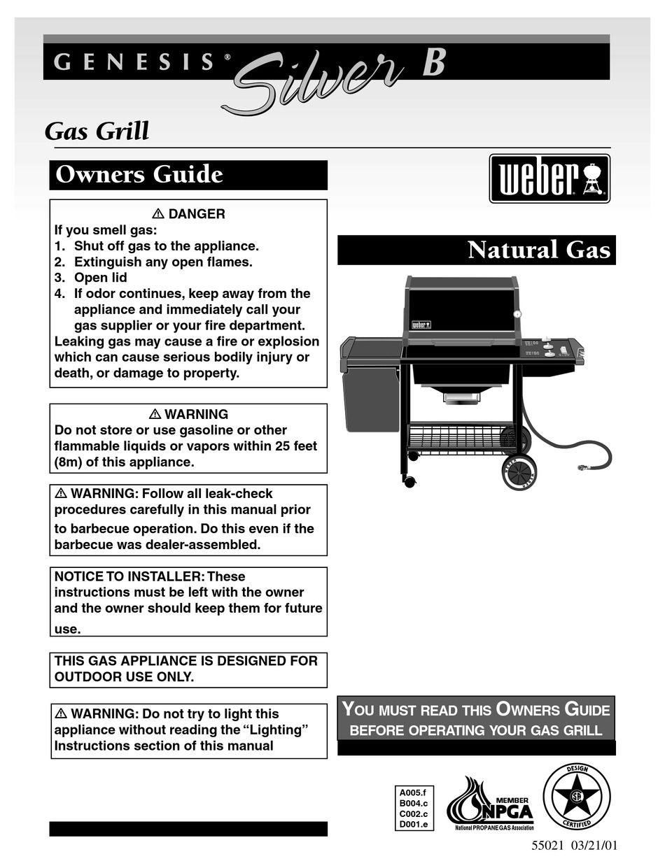 Weber Silver B Owner S Manual Pdf Download Manualslib
