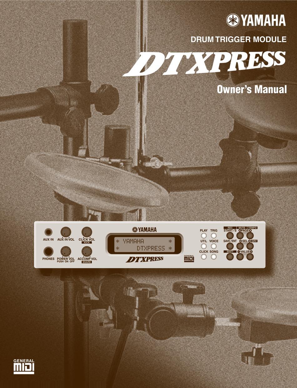 Yamaha Dtxpress Owner S Manual Pdf Download Manualslib