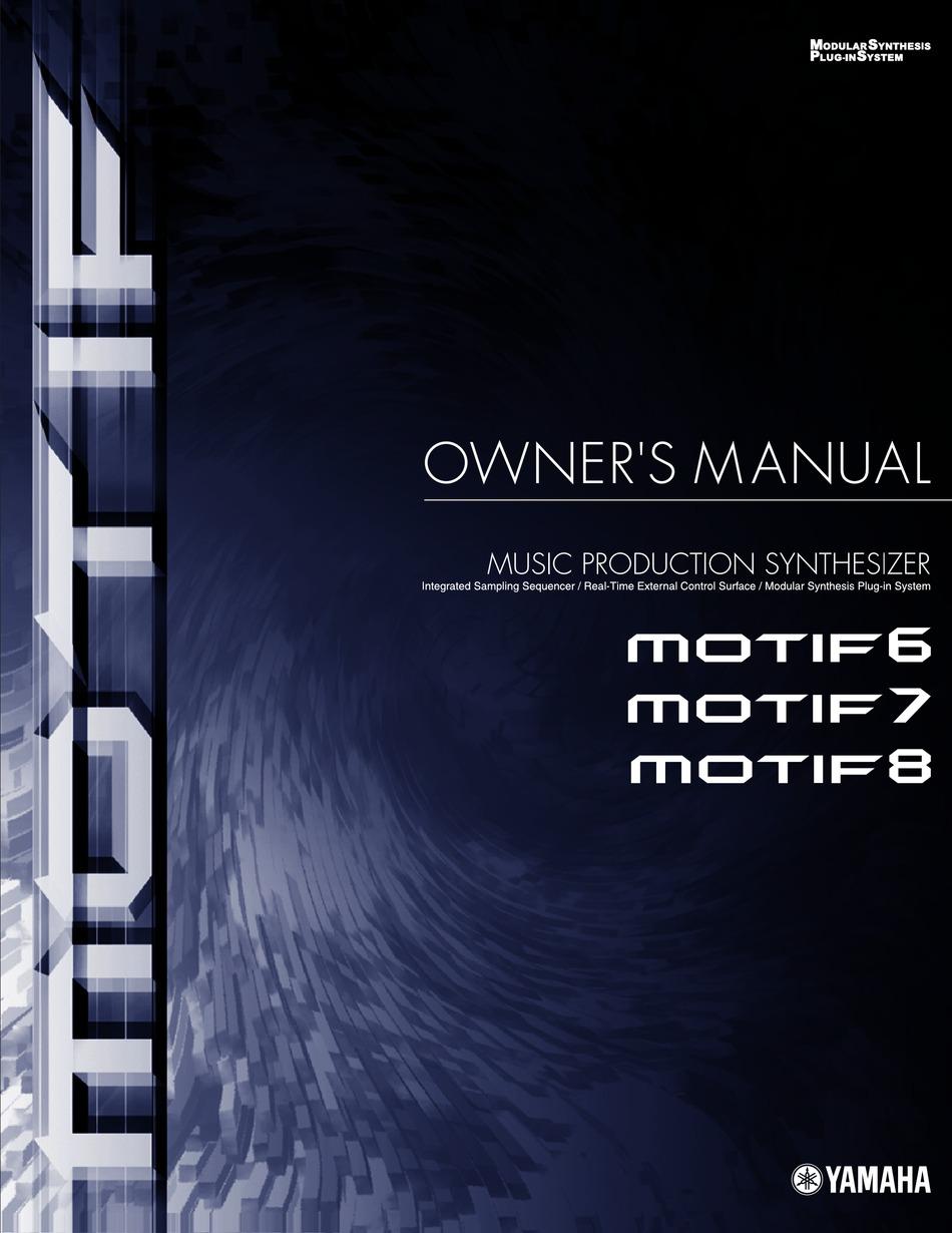 Yamaha Motif6 Owner S Manual Pdf Download Manualslib