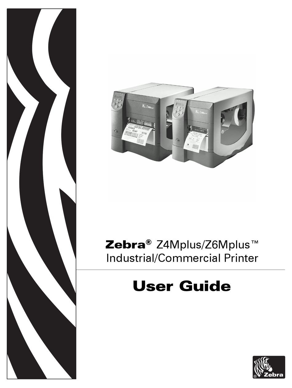 Zebra Z6mplus User Manual Pdf Download Manualslib
