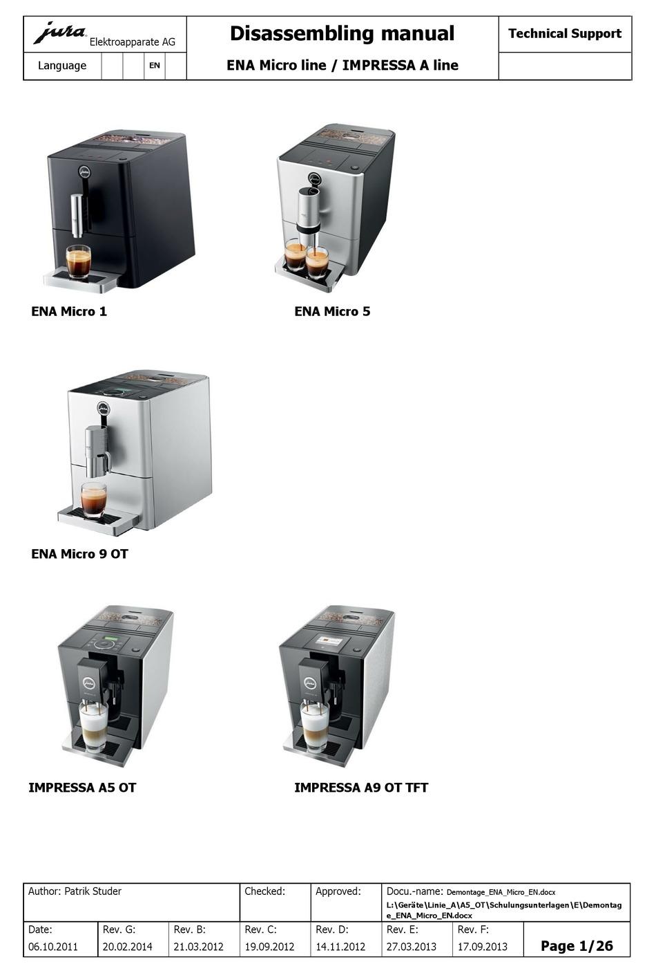 ENA 3 ENA 5 2x Wasser-Filter für Jura ENA 1 Micro 1 ENA 7 ENA 8 ENA 9