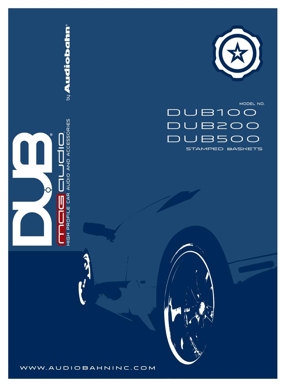 AUDIOBAHN DUB100 OWNER'S MANUAL Pdf Download | ManualsLibManualsLib
