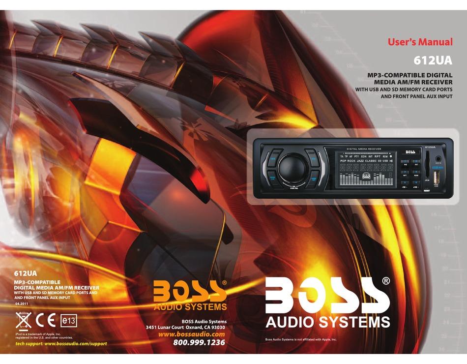 BOSS AUDIO SYSTEMS 612UA USER MANUAL Pdf Download | ManualsLibManualsLib