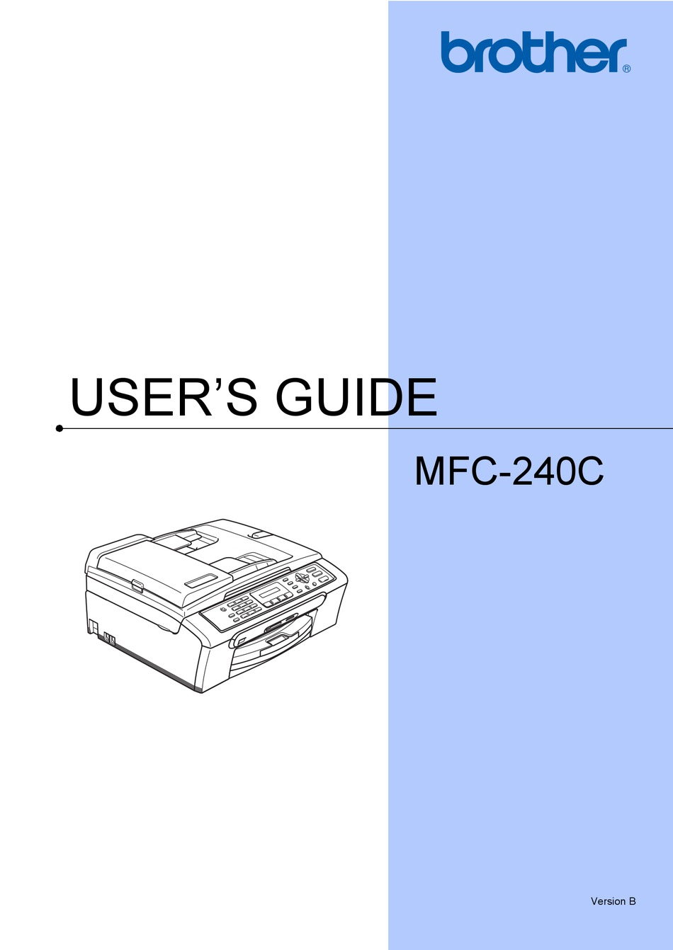 Brother Mfc 240c User Manual Pdf Download Manualslib