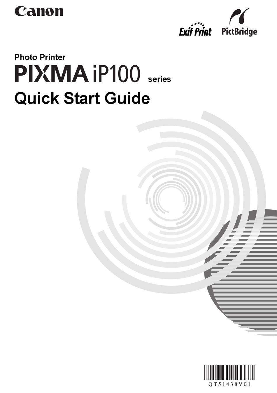 Canon Pixma Ip100 Series Quick Start Manual Pdf Download Manualslib