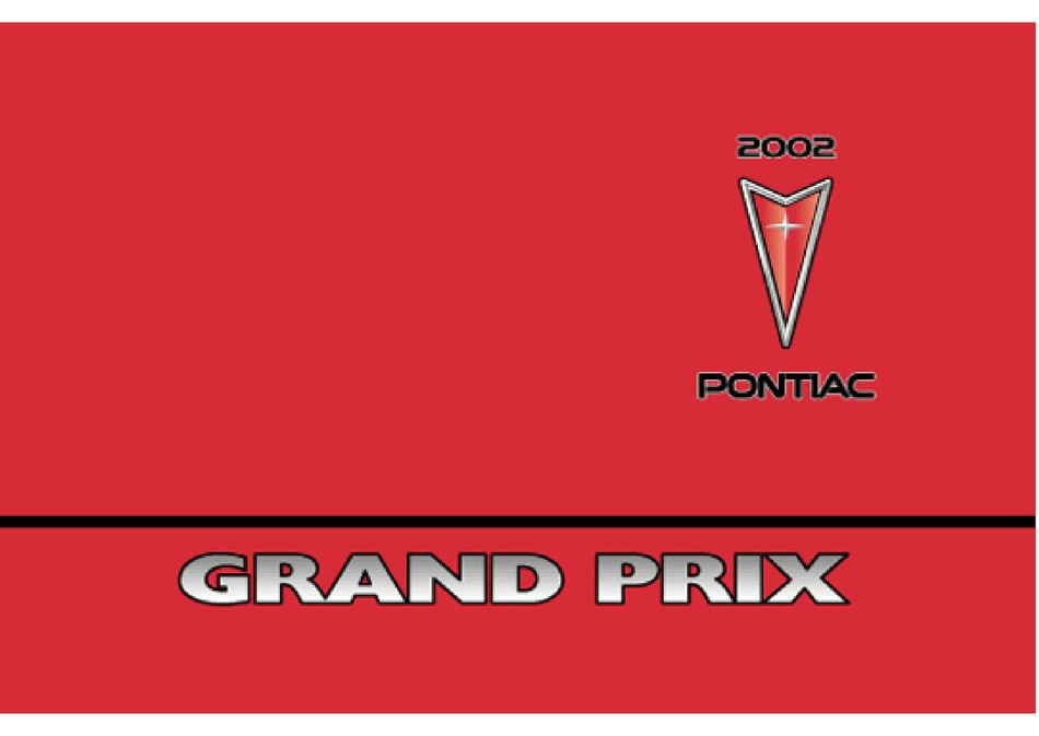 Pontiac 2002 Grand Prix Owner S Manual Pdf Download Manualslib