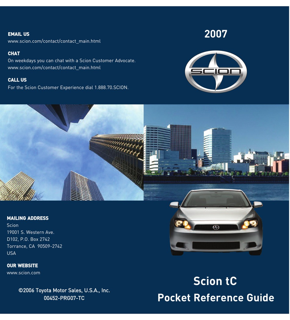 Manual tc service 2007 pdf scion Download 2005