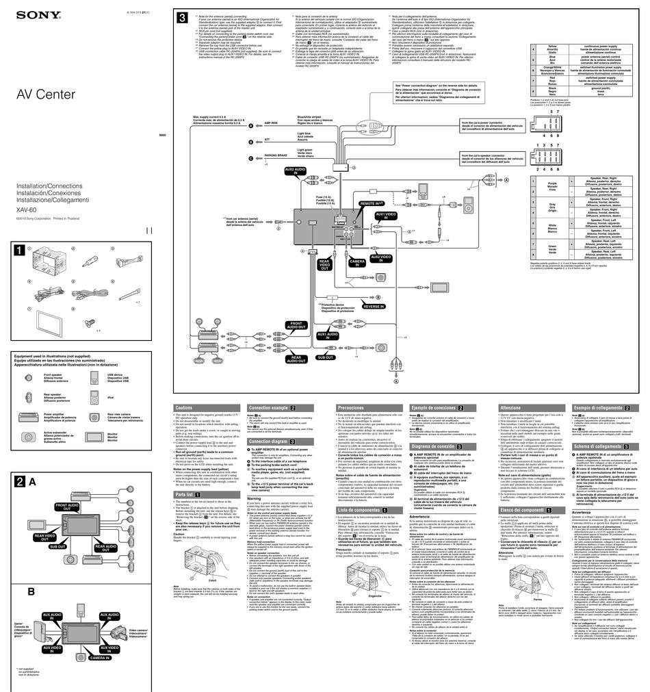 SONY XAV-60 INSTALLATION/CONNECTIONS Pdf Download | ManualsLib | Car Audio Wiring Diagram Sony Xav 60 |  | ManualsLib