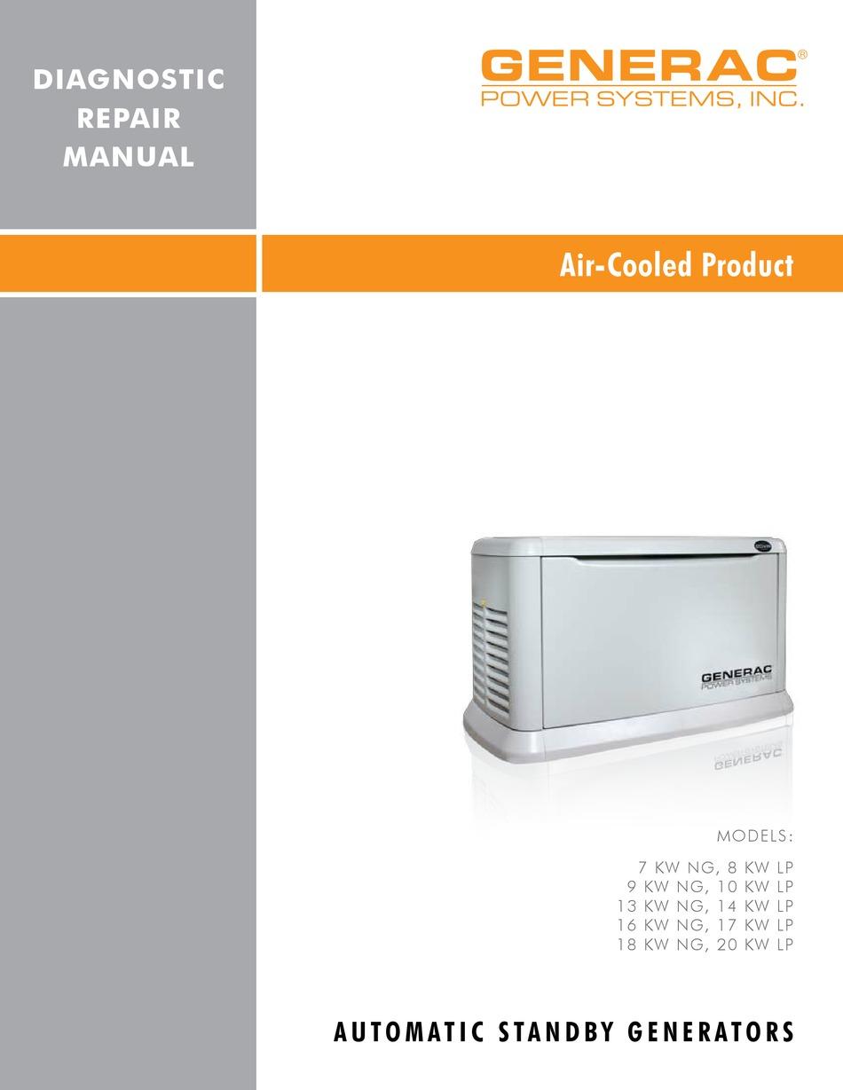 Generac Power Systems 10 Kw Lp Repair Manual Pdf Download Manualslib