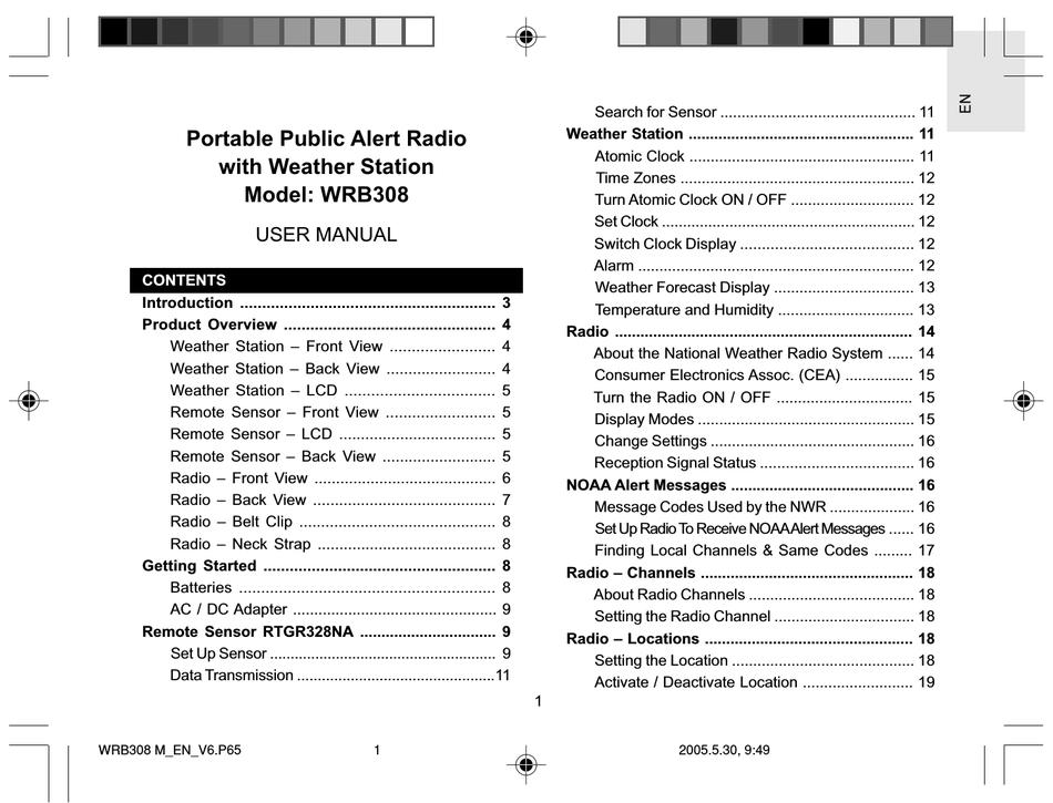 Oregon Scientific Wrb308 User Manual Pdf Download Manualslib