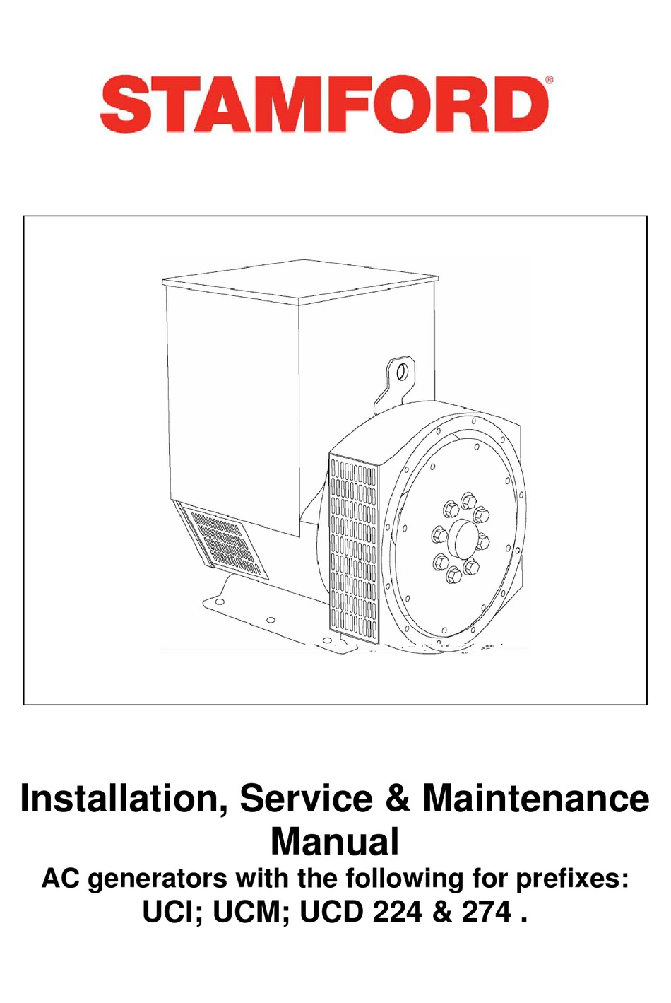 stamford ac generators installation & maintenance manual pdf download |  manualslib  manualslib