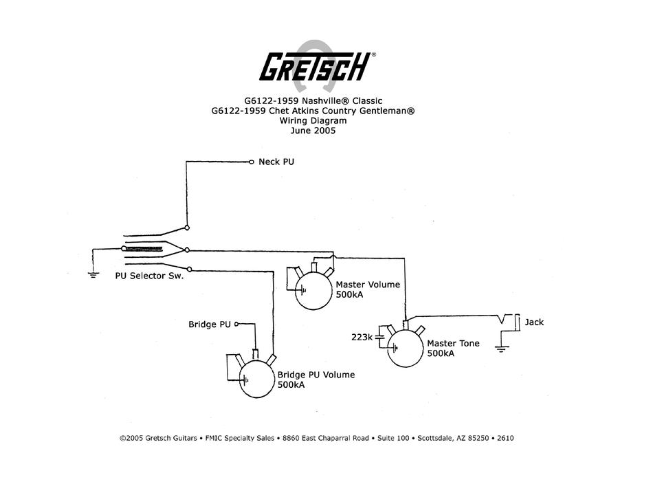 gretsch g6122 wiring diagram pdf download  manualslib