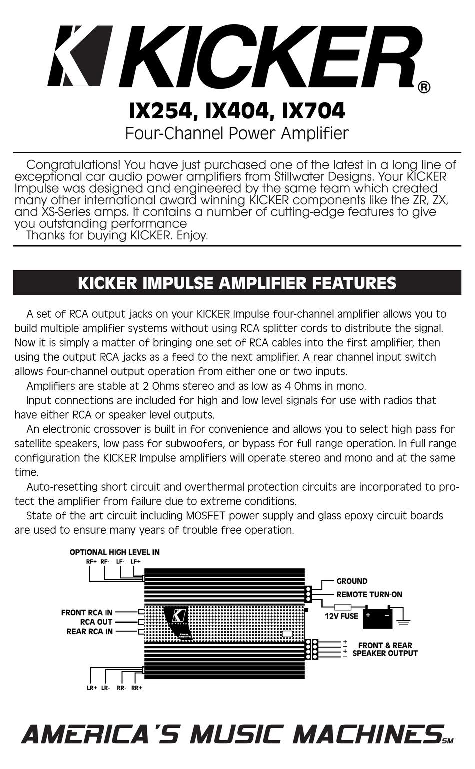 Kicker Impulse Ix254 User Manual Pdf Download