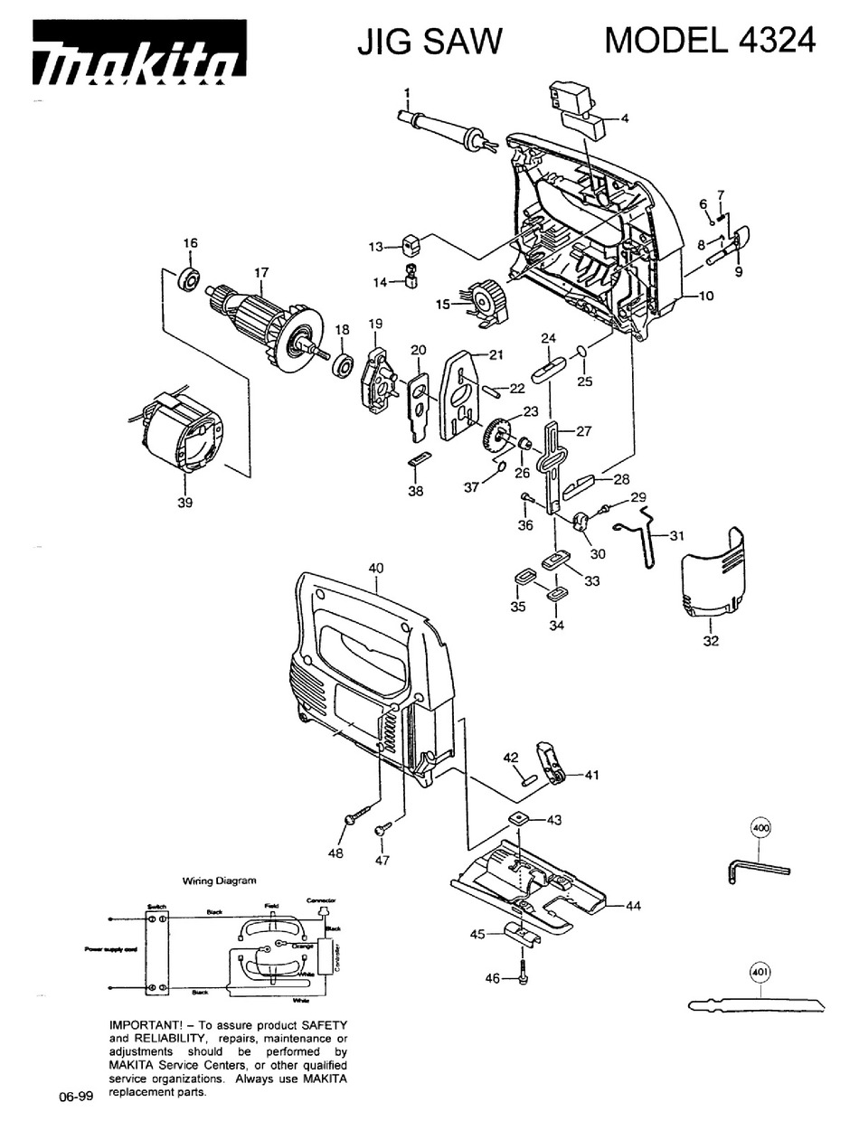 makita 4324 parts manual pdf download | manualslib  manualslib