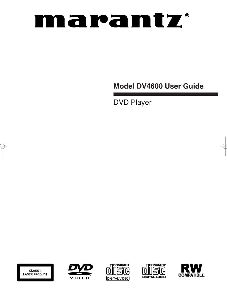 Marantz Dv4600 User Manual Pdf Download Manualslib