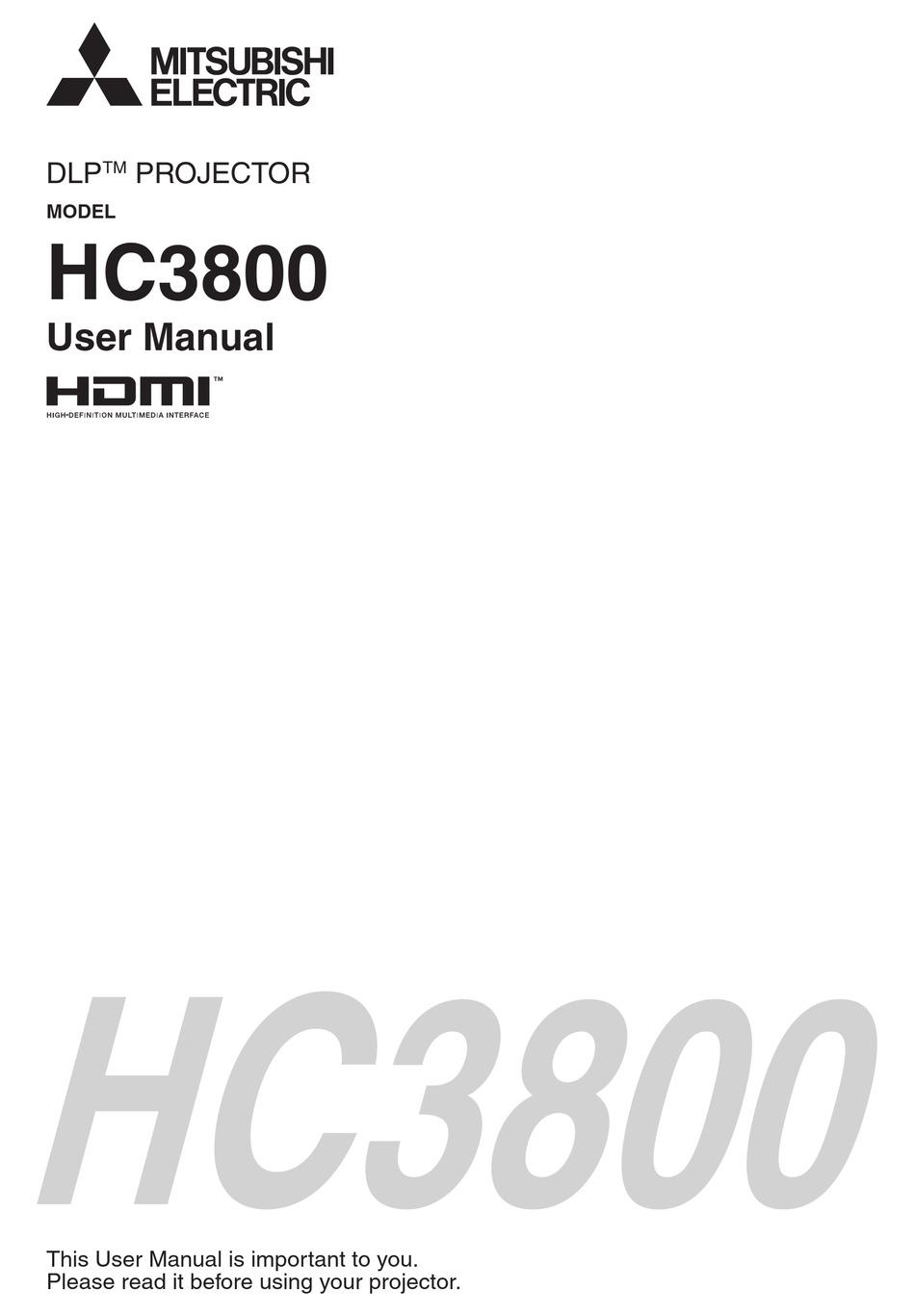 Mitsubishi Hc3800 User Manual Pdf Download Manualslib