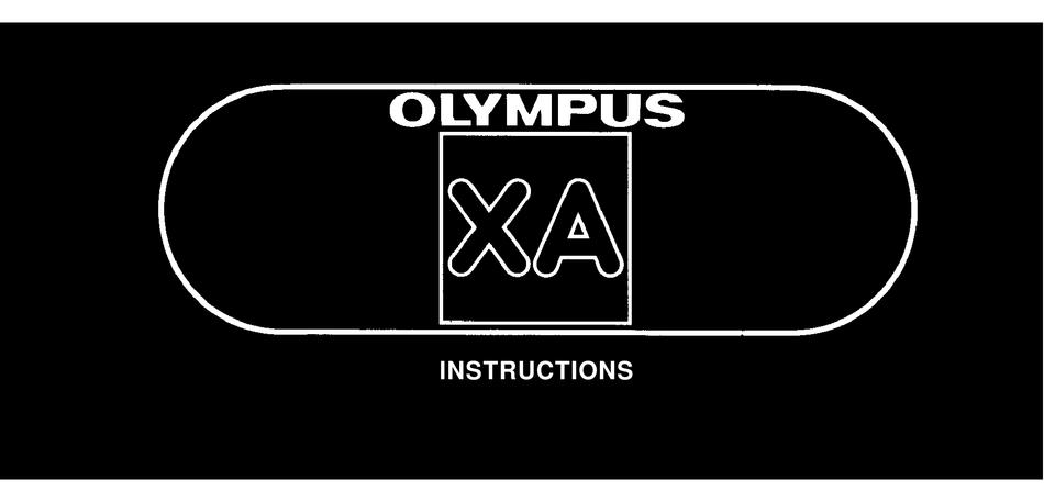 Olympus XA1 /& A9M Instruction Manual Original not a copy