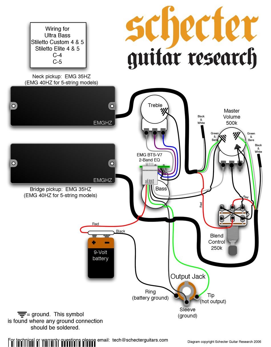 SCHECTER STILETTO ELITE 4 SUPPLEMENTARY MANUAL Pdf Download   ManualsLib   Guitar Wiring Diagram Schecter V7      ManualsLib