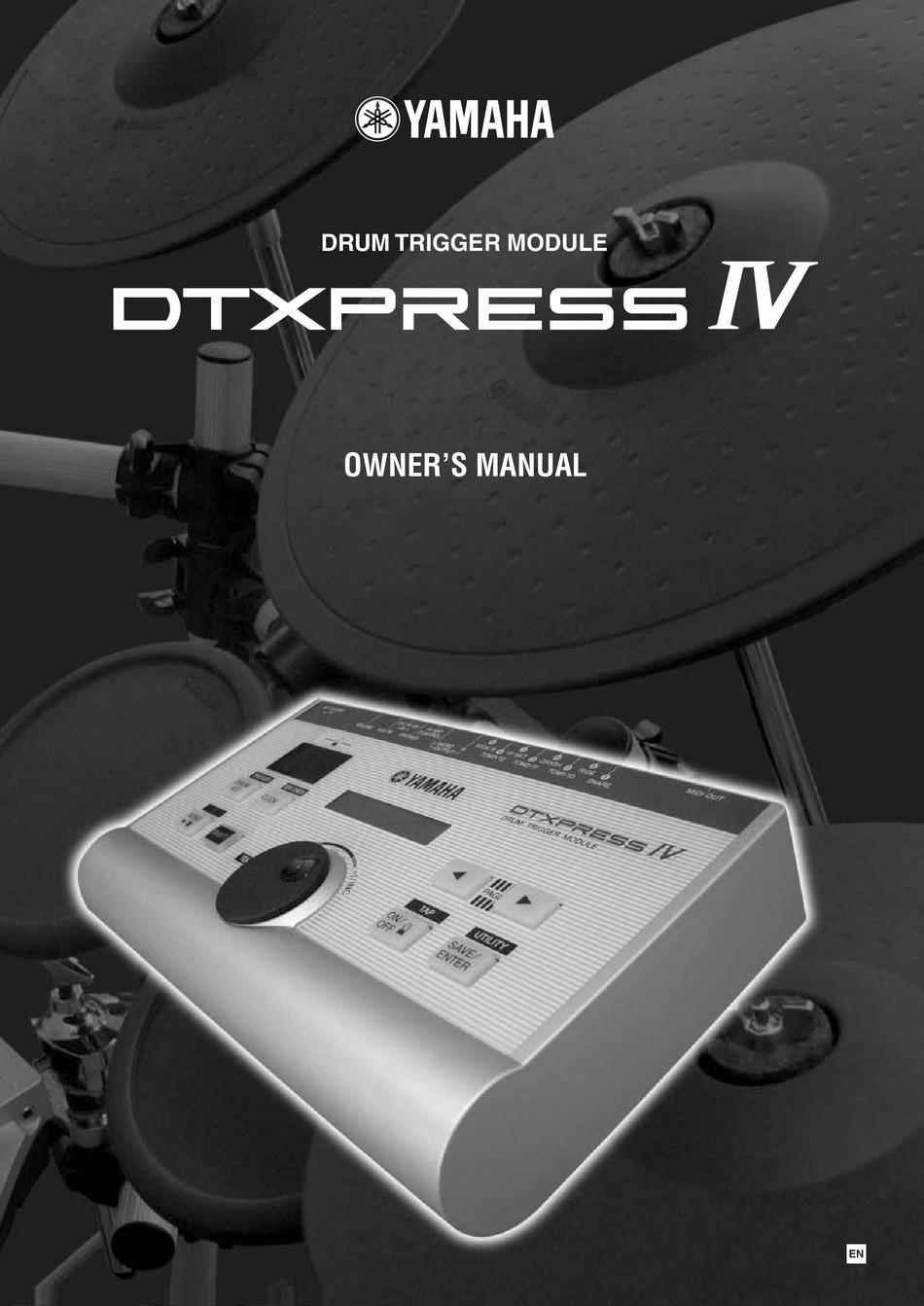 Yamaha Dtxpress Iv Owner S Manual Pdf Download Manualslib