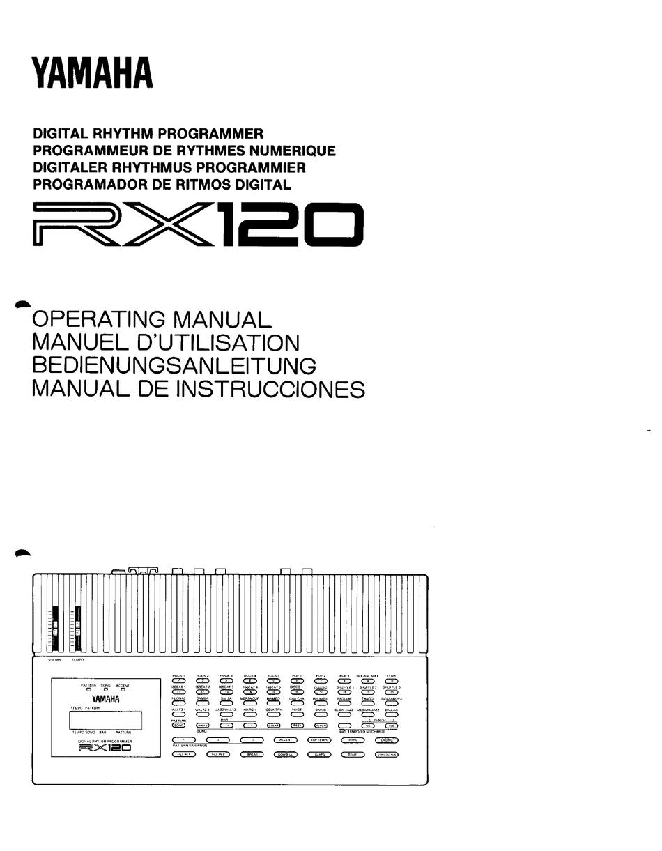 Yamaha Rx 120 Operating Manual Pdf Download Manualslib