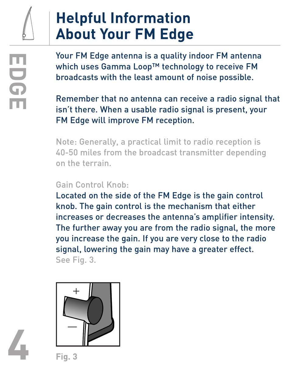 TERK TECHNOLOGIES FM EDGE USER MANUAL Pdf Download