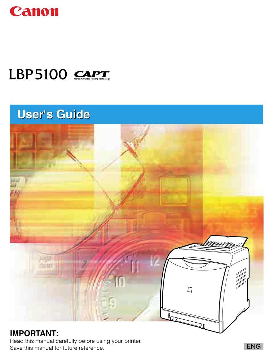 Canon Lbp 5100 User Manual Pdf Download Manualslib