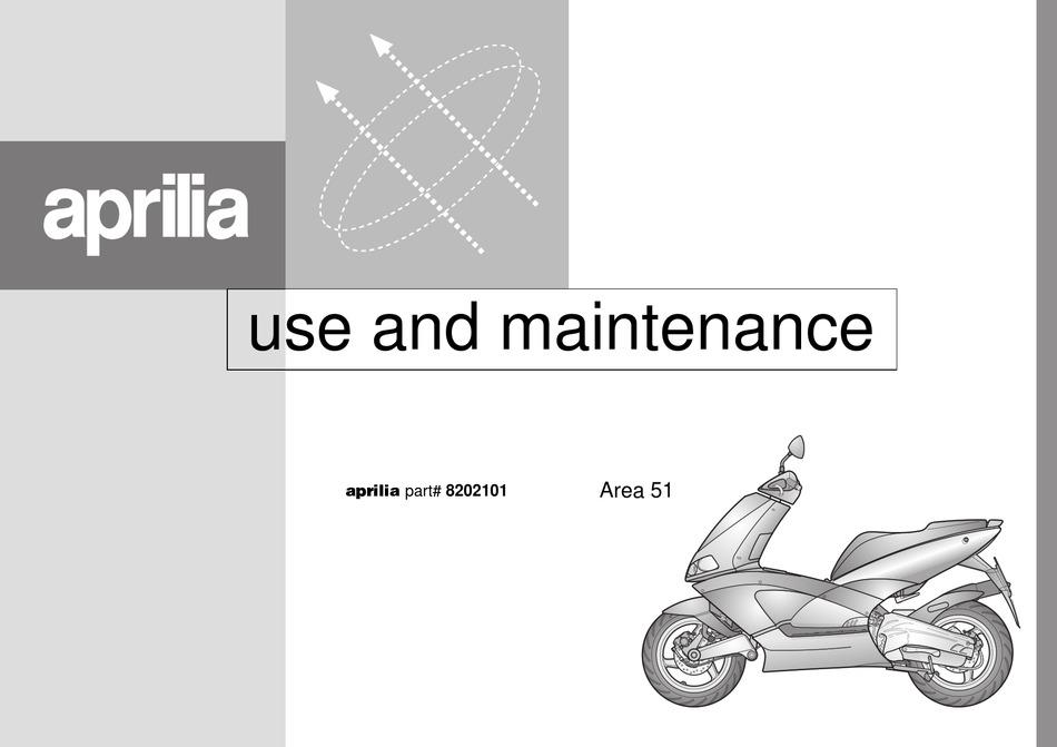 Aprilia Area 51 1998 Manual Pdf Download Manualslib