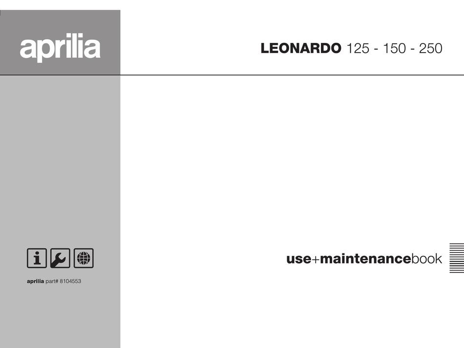 Aprilia Leonardo 125 Manual Pdf Download Manualslib