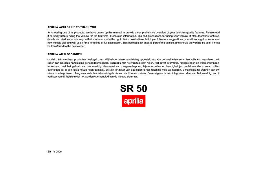 Aprilia Sr 50 R Manual Pdf Download Manualslib