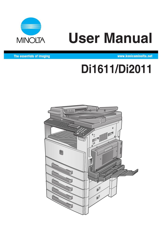 Minolta Di1611 User Manual Pdf Download Manualslib