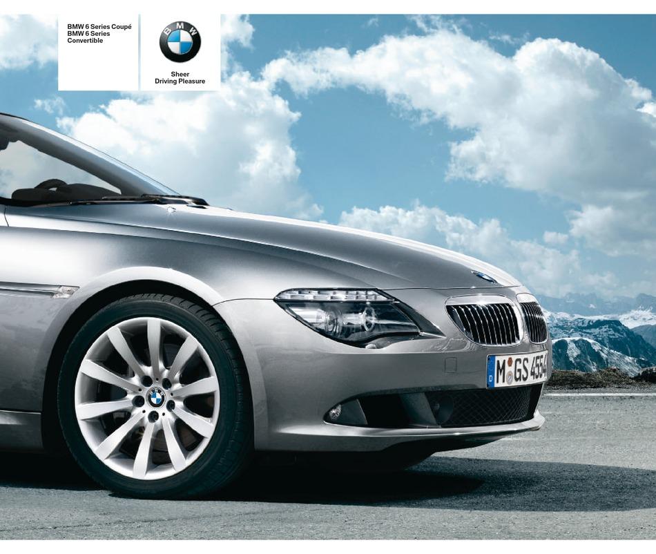 Prospekt Brochure BMW E63 6er Coupé 645Ci 2 2003