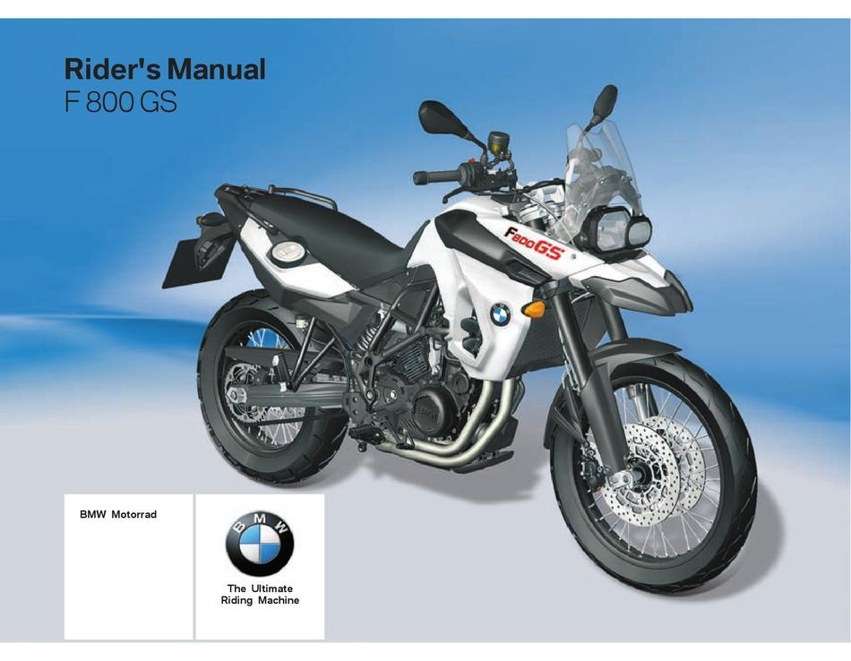 BMW F 800 GS RIDER'S MANUAL Pdf Download | ManualsLib | Bmw F800gs Motorcycle Wiring Diagram |  | ManualsLib