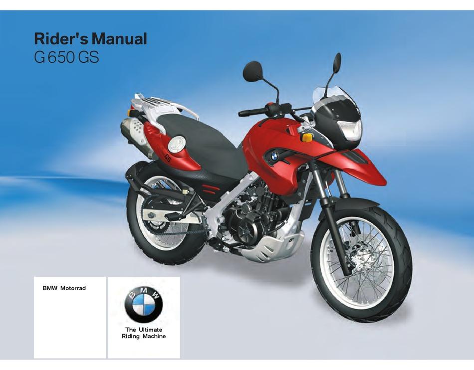 Bmw G 650 Gs Rider S Manual Pdf Download Manualslib
