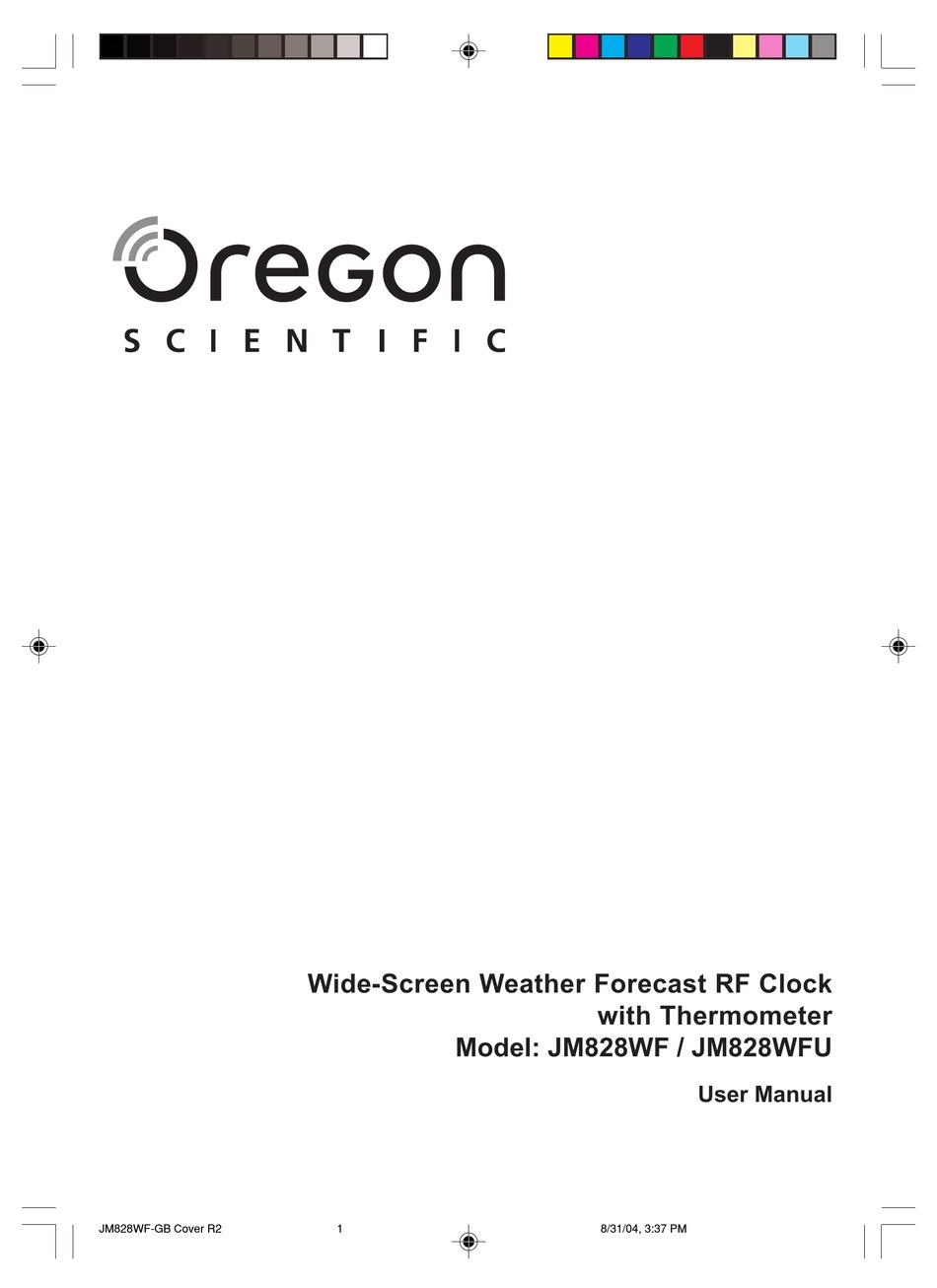 Oregon Scientific Jm828wf User Manual Pdf Download Manualslib