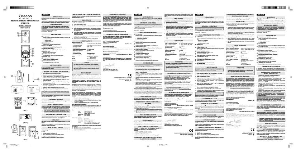 Oregon Scientific Thgr228n User Manual Pdf Download Manualslib