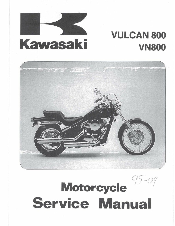 Kawasaki Vn800 Service Manual Pdf Download Manualslib