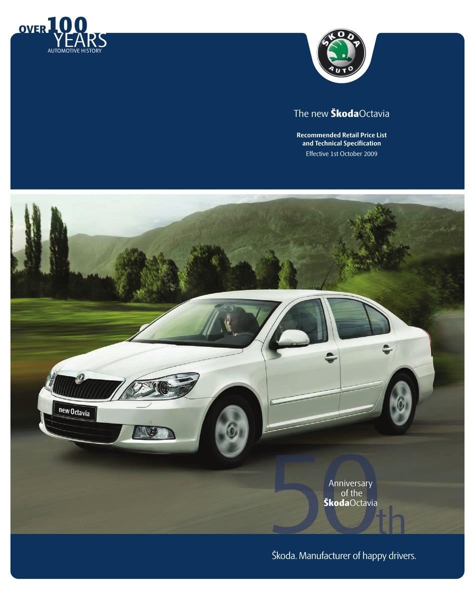 Skoda Octavia Brochure Pdf Download Manualslib