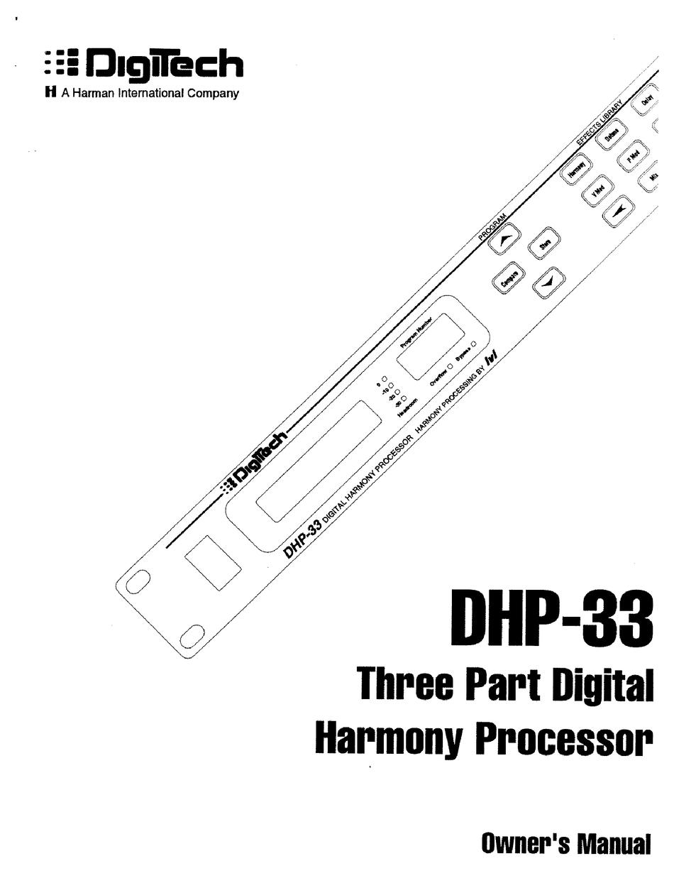 Digitech Dhp 33