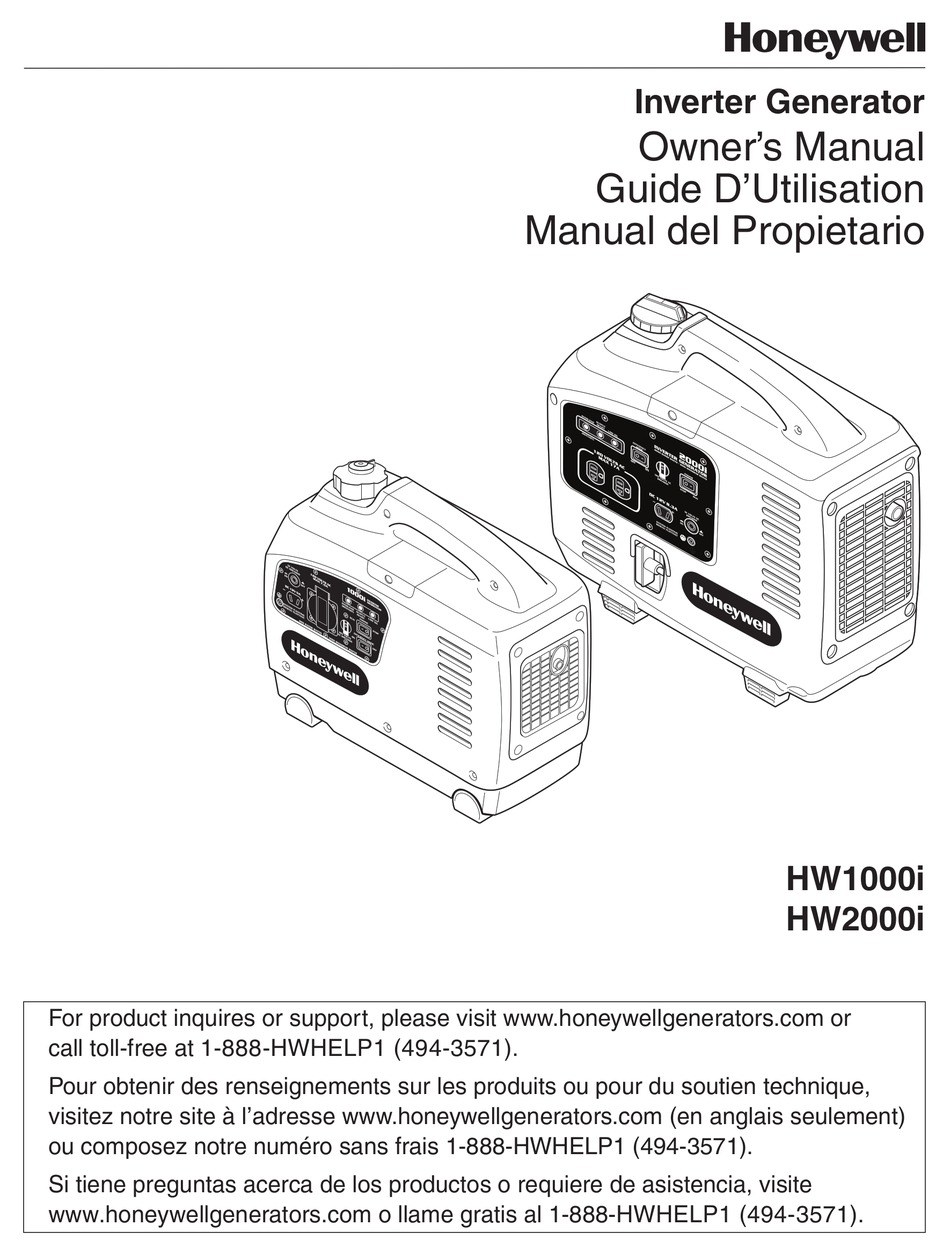 HONEYWELL HW2000I - PORTABLE INVERTER GENERATOR OWNER'S MANUAL Pdf Download  | ManualsLib | Hw 2000i Inverter Wiring Diagram |  | ManualsLib