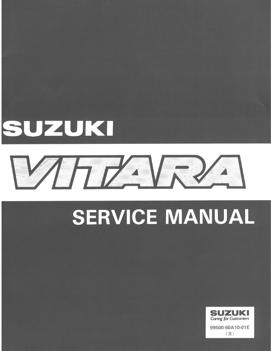 Suzuki Vitara Service Manual Pdf Download Manualslib