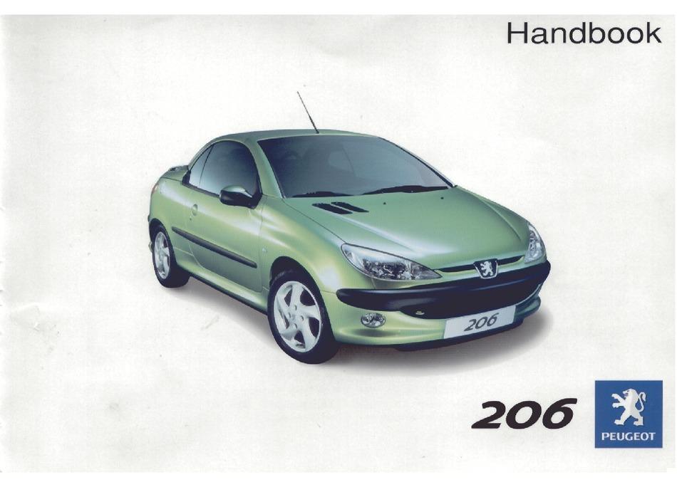 Peugeot 206 Cc Handbook Pdf Download Manualslib