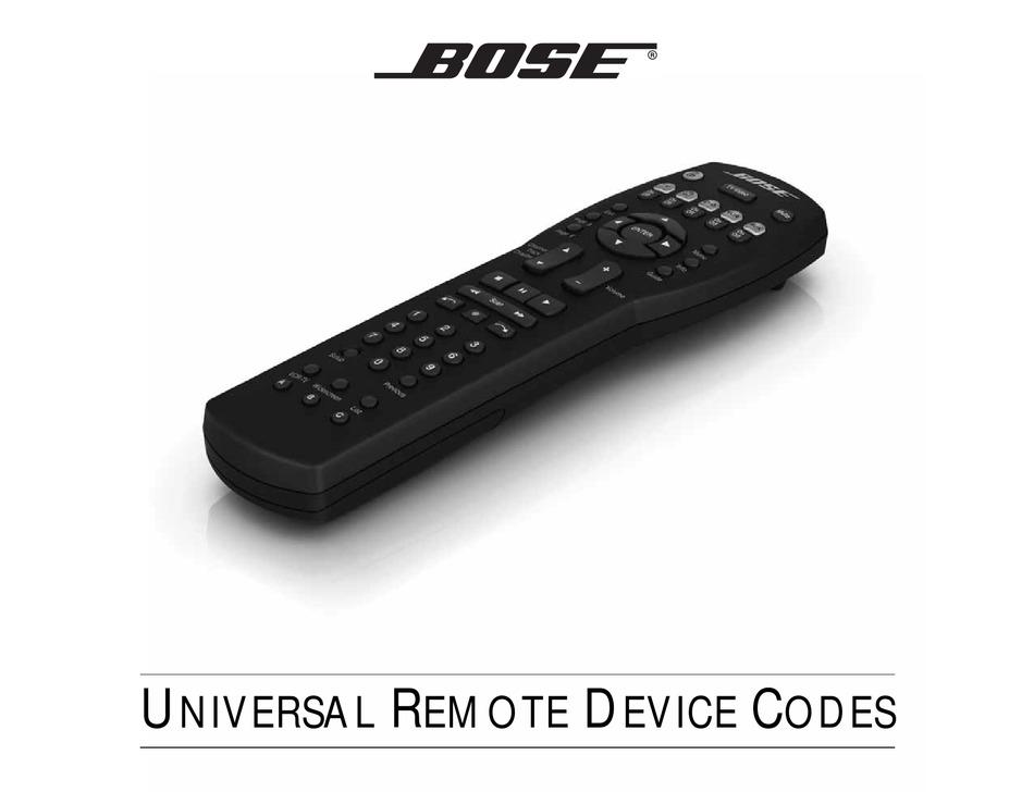Bose Cinemate Gs Series Ii Code List Pdf Download Manualslib