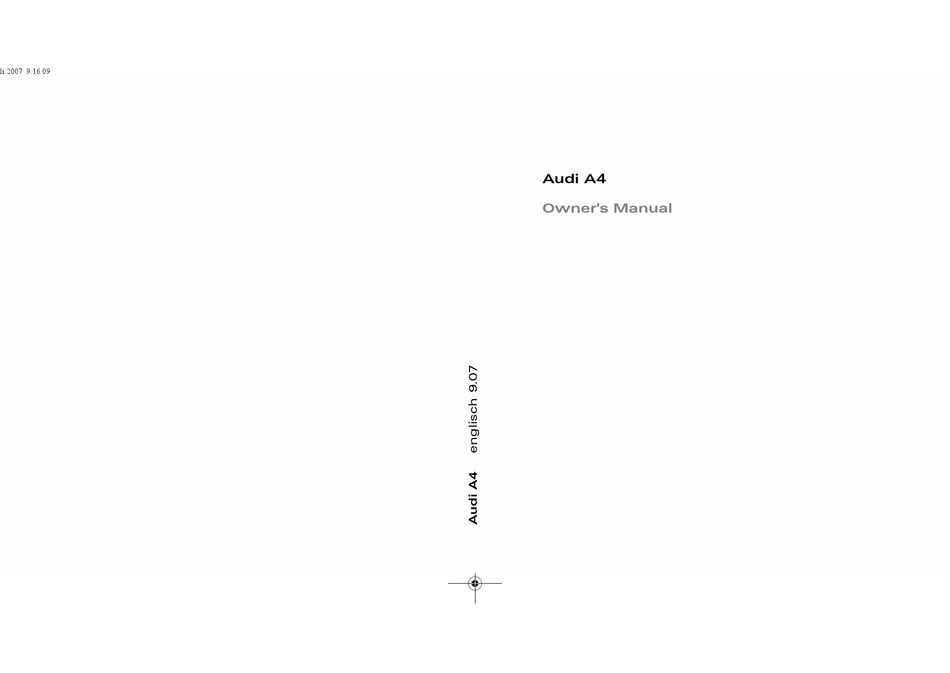 Audi A4 Owner S Manual Pdf Download Manualslib