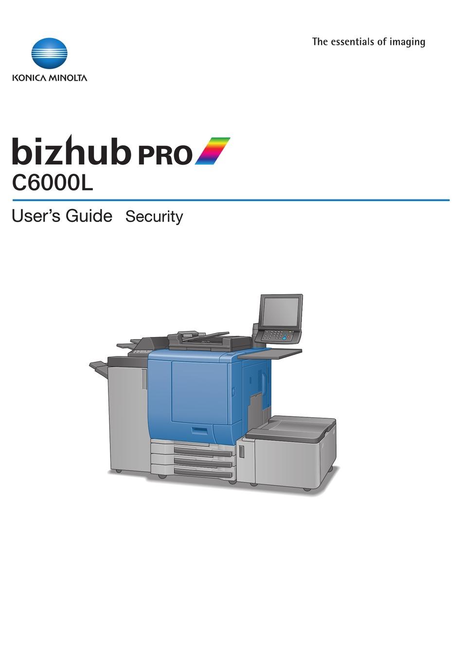 Konica Minolta Bizhub Pro C6000l User Manual Pdf Download Manualslib