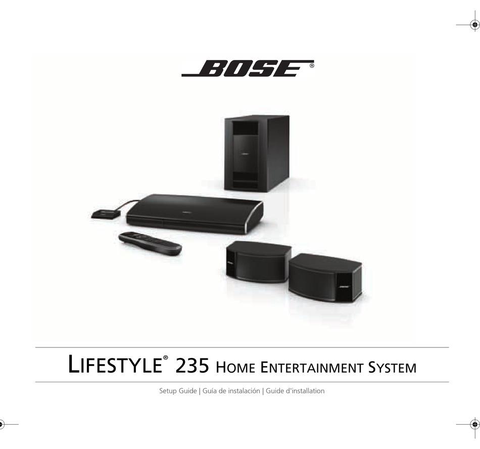Bose Lifestyle 235 Setup Manual Pdf Download Manualslib