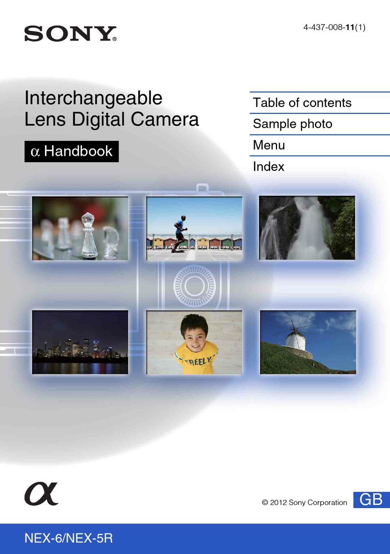 Sony Alpha Nex 5r Handbook Pdf Download Manualslib