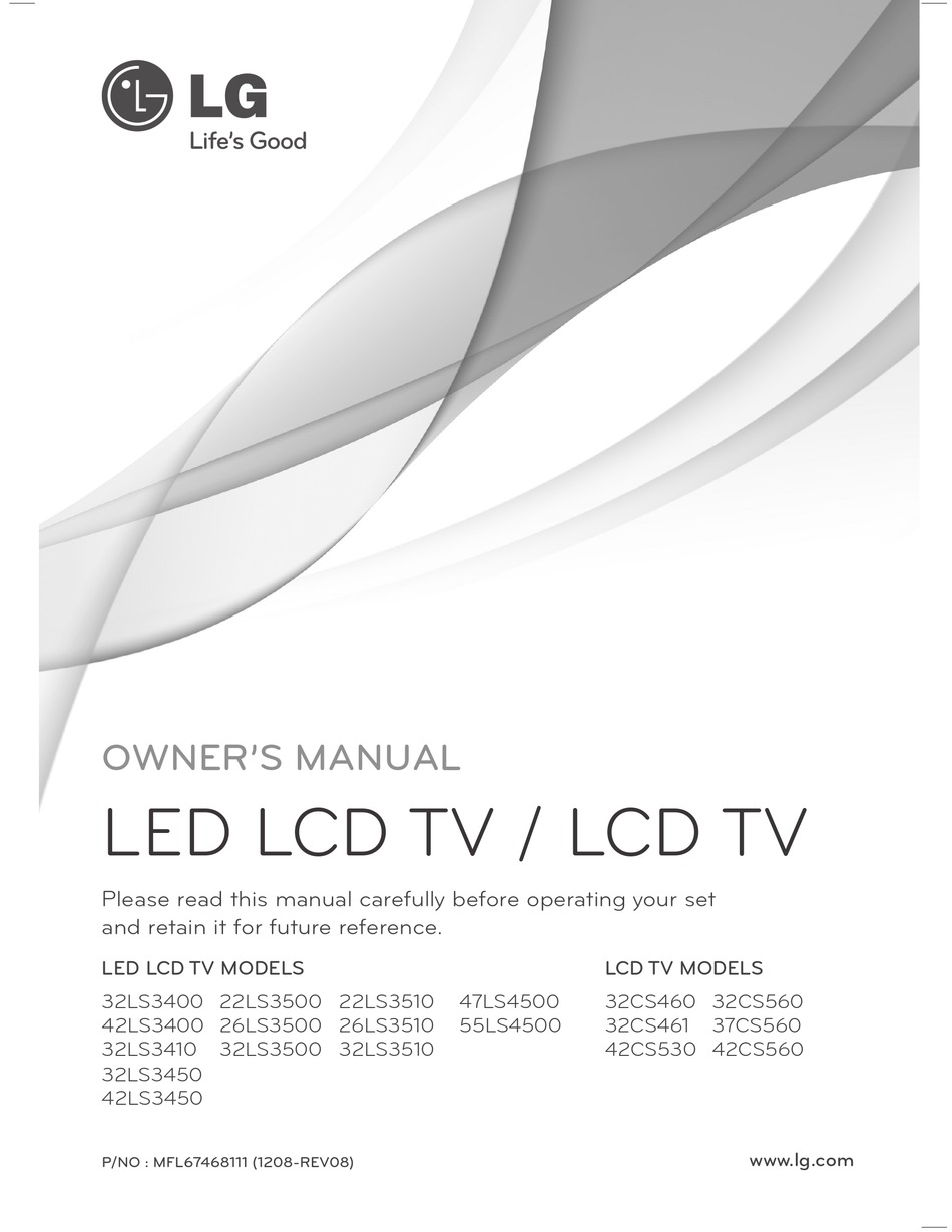 Lg 55ls4500 Owner S Manual Pdf Download Manualslib