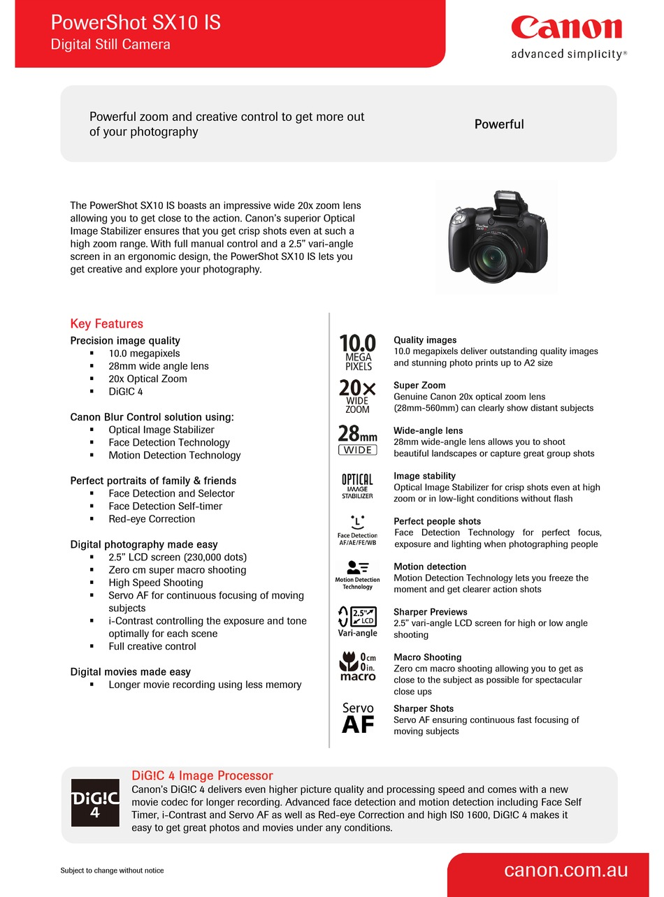 CANON 20B20 TECHNICAL SPECIFICATIONS Pdf Download   ManualsLib