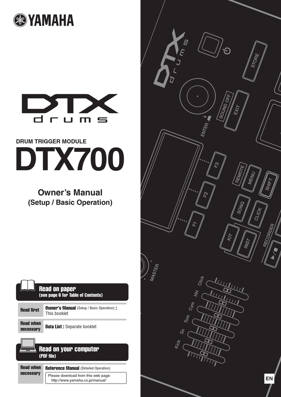 Yamaha Dtx700 Owner S Manual Pdf Download Manualslib