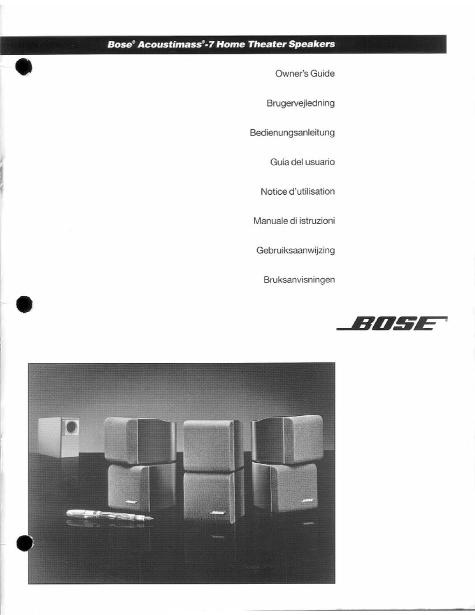 BOSE ACOUSTIMASS 7 OWNER'S MANUAL Pdf Download | ManualsLibManualsLib